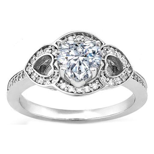 Ring Heart Diamond