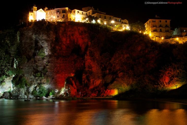 Campania Borgo di Agropoli (Salerno) Panorama notturno