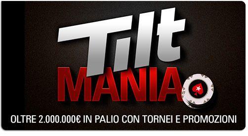 tilt mania promotional period:  #bonus: tilt mania 2.000.000€ prize pool from september to december http://www.creepingmold.com/wordpress/2013/09/10/bonus-tilt-mania-2-000-000e-prize-pool-from-september-to-december/ Enjoy my blog #nitpickaboutpoker #pokertoread