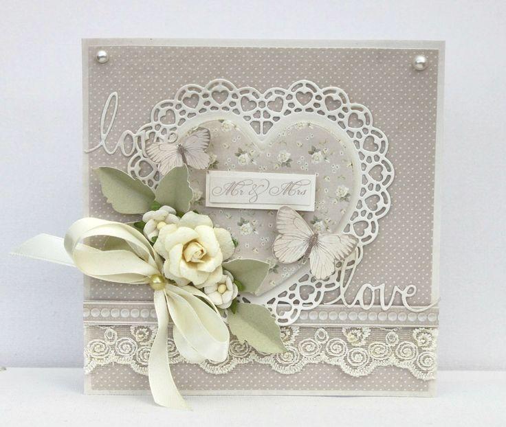 Wedding - Scrapbook.com #beautiful #floral #card