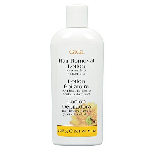 GiGi Hair Removal Lotion by GiGi. $6.99. Quickly, gently and effectively removes unwanted hair on the arms, legs and bikini area with GiGi Hair Removal Lotion.. Save 15%!
