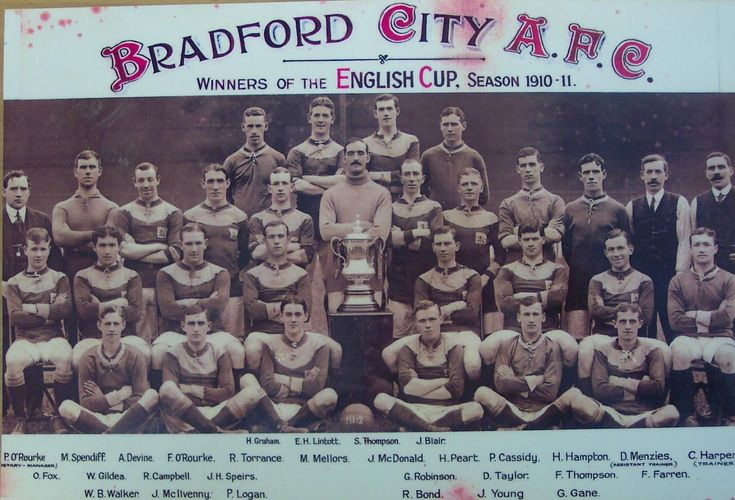Bradford City team group in 1910-11.