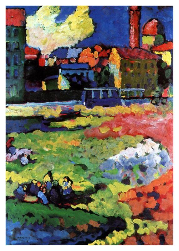 Wassily Kandinsky: Munich- Schwabing with the Church of St. Ursula, 1904