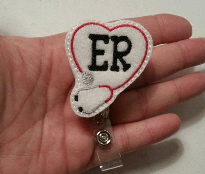 ER - Emergency Room - Name Badge Reel - Ready to Ship #thepapercubby #badgereel #namebadgereel #namebadge @thepapercubby