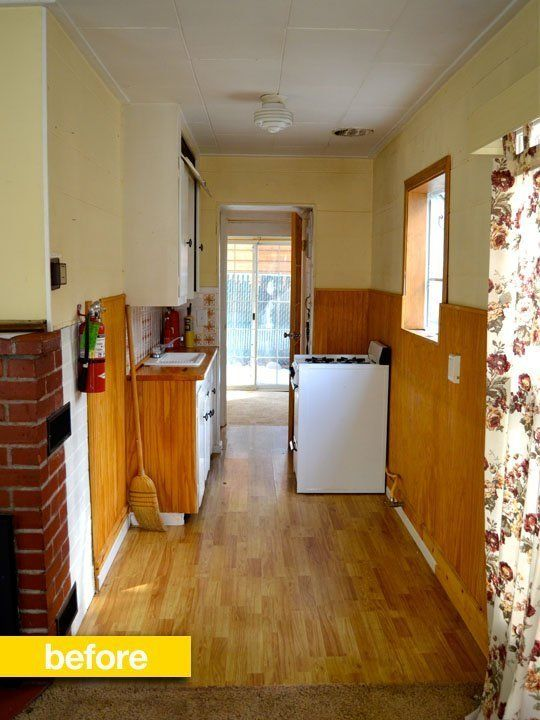 240 Sq Ft Tiny Cottage Remodel Before After: Best 12 Galley Kitchen Layouts Images On Pinterest