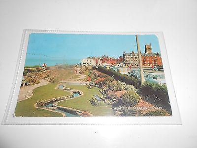 Postcard West Cliff Gardens, Cromer, Norfolk
