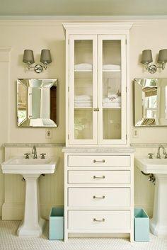 Pedestal Sink Storage Cabinet Lowes : Double pedestal bathroom sink with cabinet Bathroom Pinterest ...
