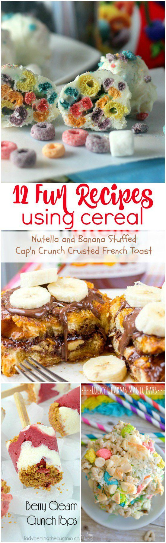12 Fun Recipes using Cereal