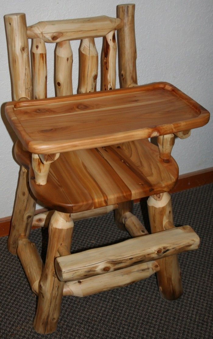 Cedar Log Baby High Chair