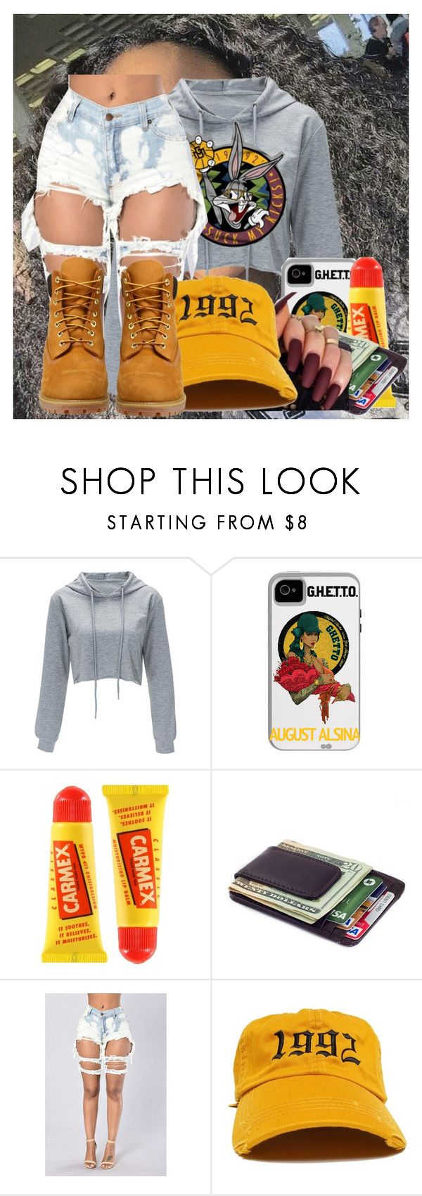 """""""Untitled #2313"""" by kayla77johnson ❤ liked on Polyvore featuring Bordeaux, Carmex and Timberland"""