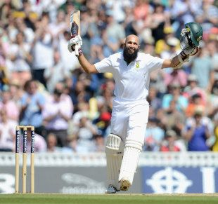 """Hashim Amla scored his 1st Test triple century, England v South Africa, The Oval, 4/7/12. His fortitude and strokeplay earned him South Africa's cricket's highest score. His ability to remain as humble as the day he started will earn him many more well wishers and watchers. To all of them he has promised something. """"I have a firm belief that everyone who has played a part in my career have a share in whatever success I had. If we could divide the 300 runs up, they would all get a piece,"""" he…"""