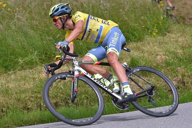 Alberto Contador (Tinkoff) during stage 5 at the Criterium du Dauphine