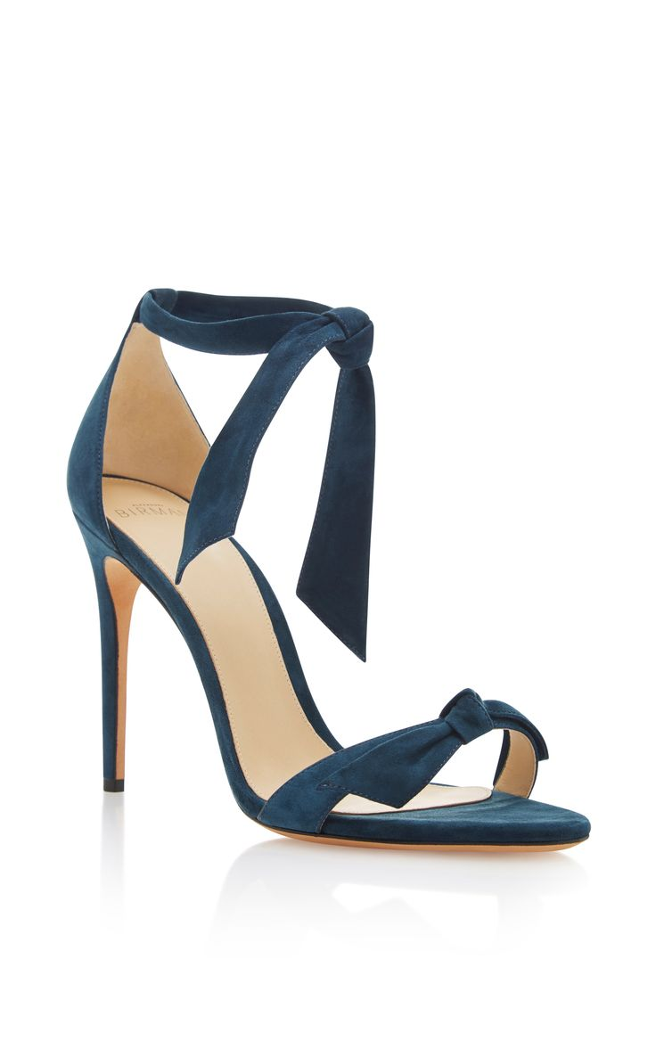 Clarita Suede Sandals by ALEXANDRE BIRMAN Now Available on Moda Operandi