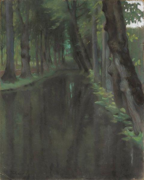 Kanał w parku włoskim - Kazimierz Stabrowski
