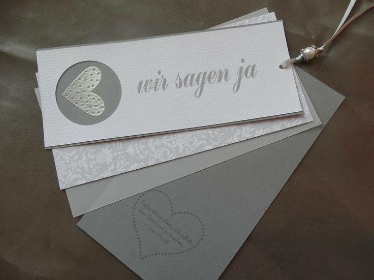 """Jenny's Papierwelt: Einladungskarte ~ """"Wir sagen ja"""" ~"""