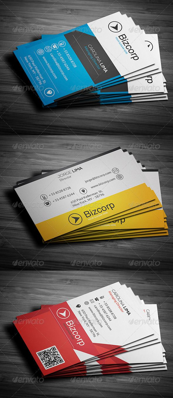 Corporate Business Cards Bundle Vol 34