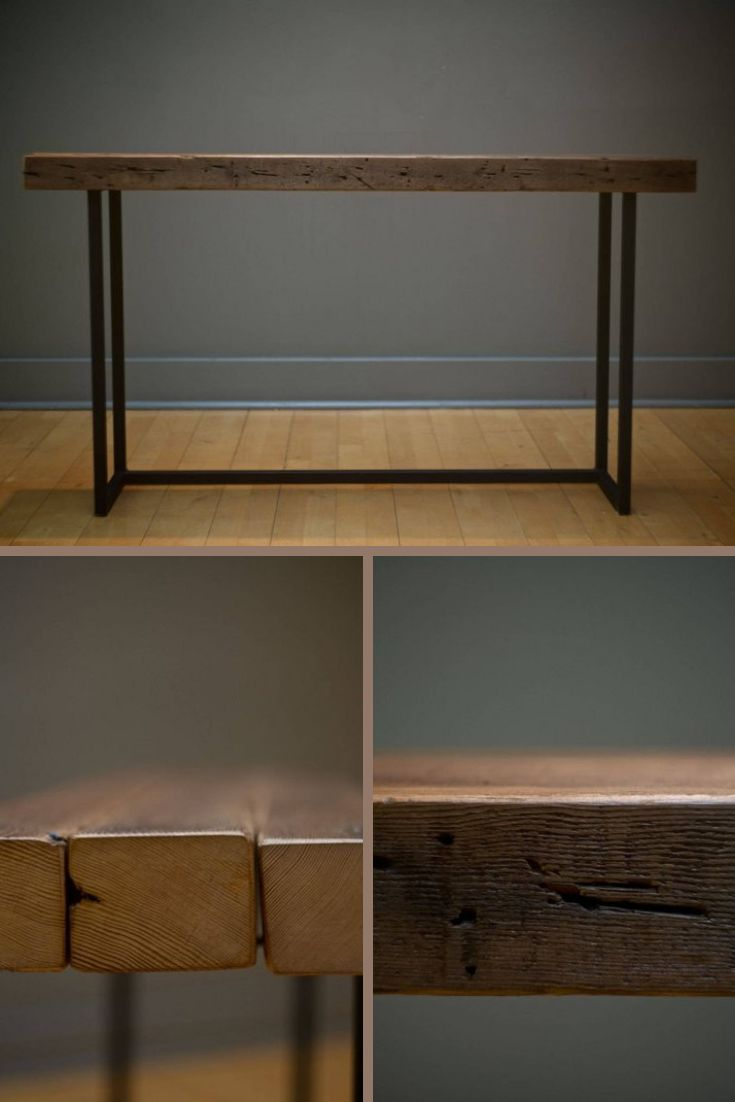Sofa Table / Hall Table / Console Table / Steel and Wood