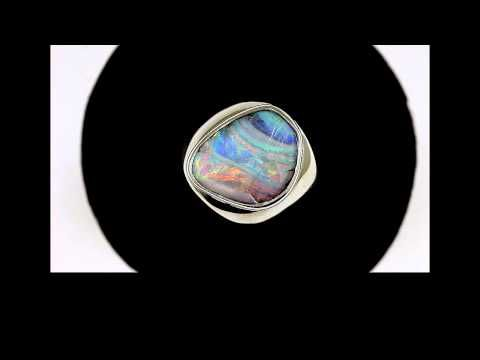 "opal ring boulder 5543 ""Opal ring boulder"" is what is termed a split face - YouTube"