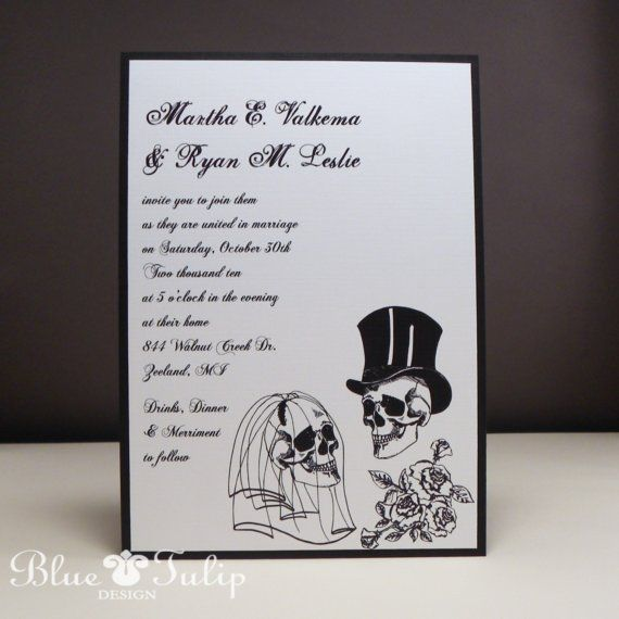 Wedding Skulls Alternative Style Wedding by mybluetulipdesign, $3.50