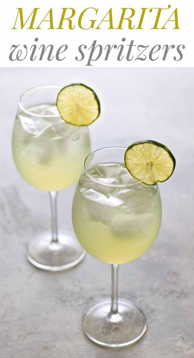 Margarita Wine Spritzer Recipe Wine Spritzer Wine Recipes Drink Wine Recipes