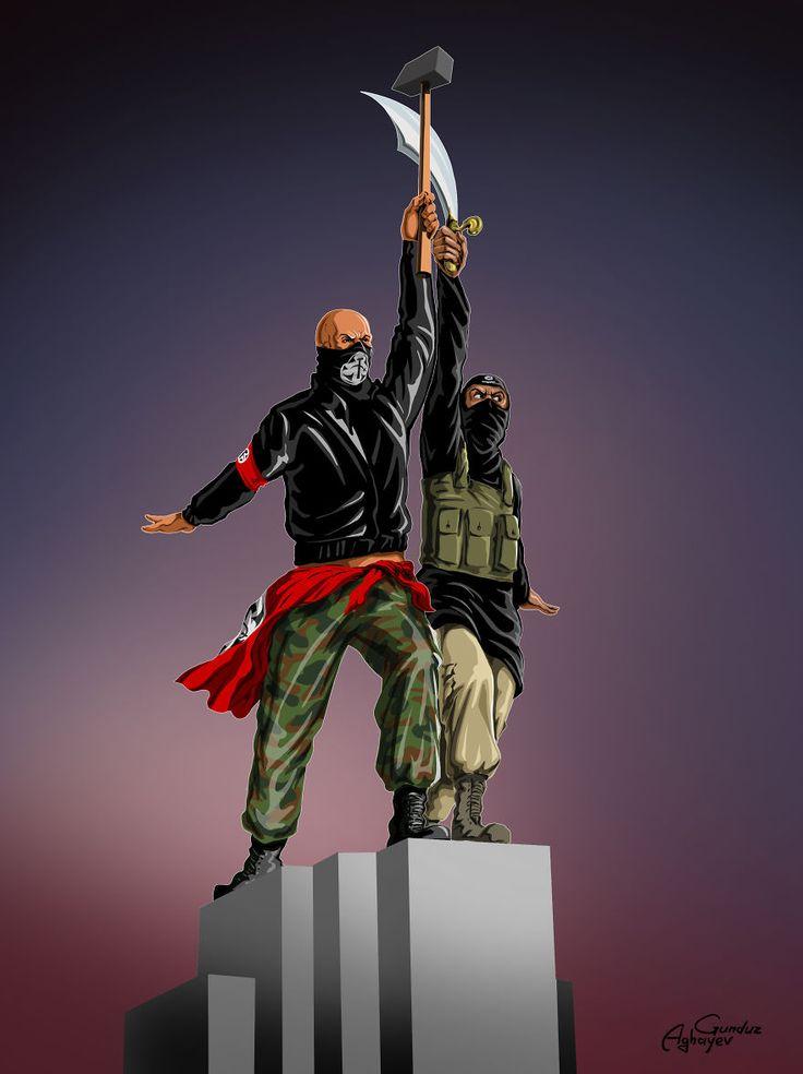 Guerre et paix  illustrations de Gunduz Aghayev  Dessein de dessin