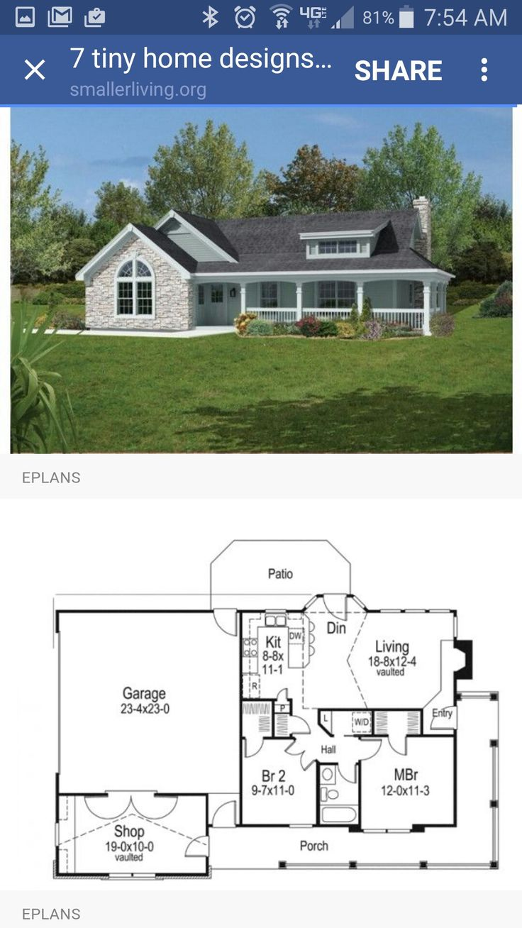 221 best Small Homes images on Pinterest | Small house plans, Tiny ...