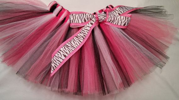 Pink White Black Tutu pink zebra tutu pink white black baby