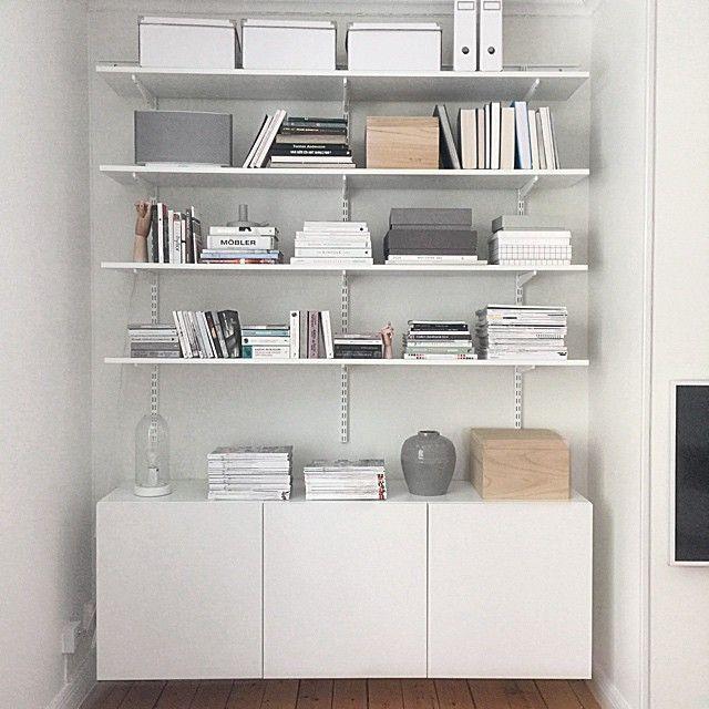 best elfa bokhylla workspace pinterest storage