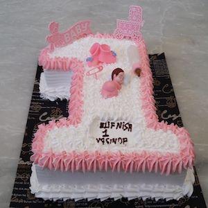 1 yaş kız bebek doğum günü butik pasta