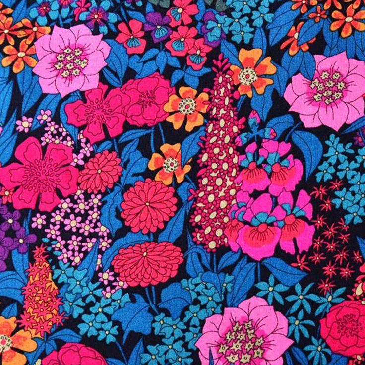 Liberty Tana Lawn Cotton Fabric Ciara Pink Green 136cm