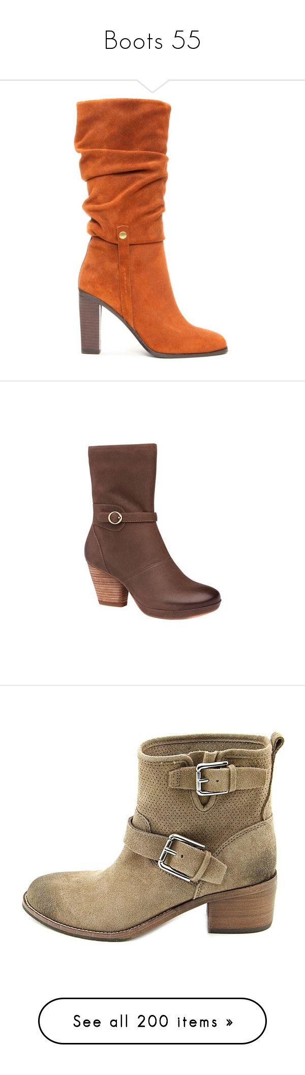 """""""Boots 55"""" by xx-black-blade-xx ❤ liked on Polyvore featuring shoes, boots, high heel shoes, stretch boots, high heel boots, slouchy brown boots, suede slouch boots, casual, leather boots and dansko boots"""