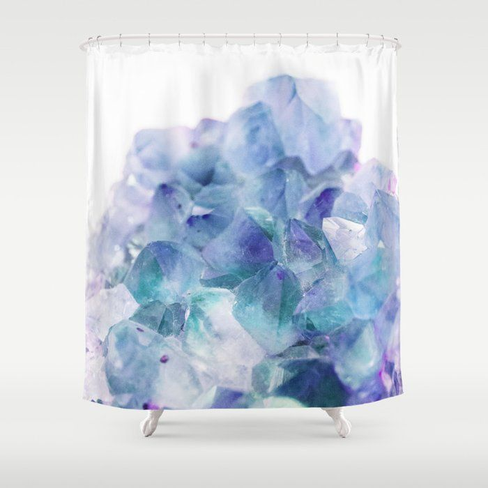 Iridescent Quartz Crystal 1 Gem Decor Art Society6 Shower