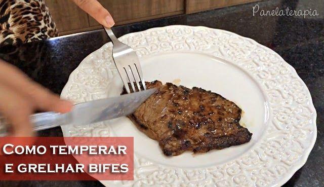 Quer fazer um bifinho delícia, grelhado quase sem nadinha de óleo e bem suculento? Então esses dois vídeos são para você! No primeiro eu ensino uma receita supimpa de tempero e um truque para facil…