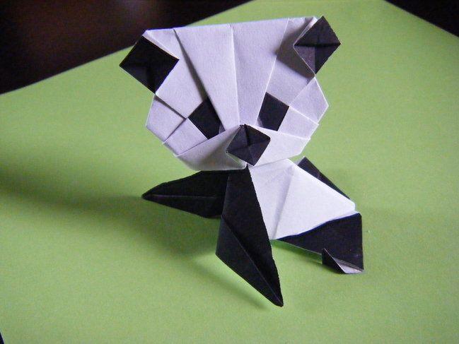 簡単 折り紙:折り紙パンダの折り方-jp.pinterest.com