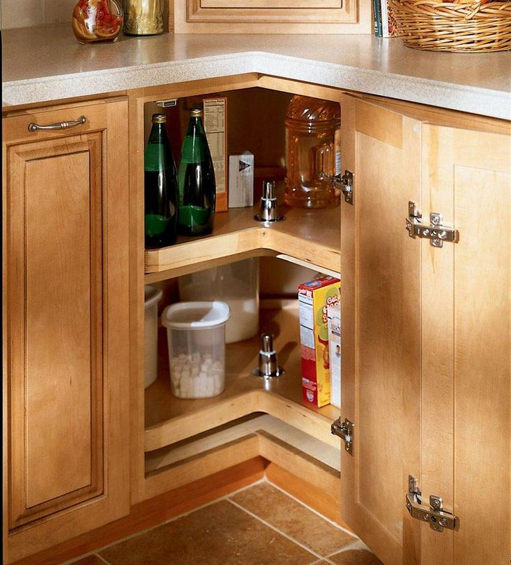 Storage Solutions Details  Easy Reach Wood Lazy Susan