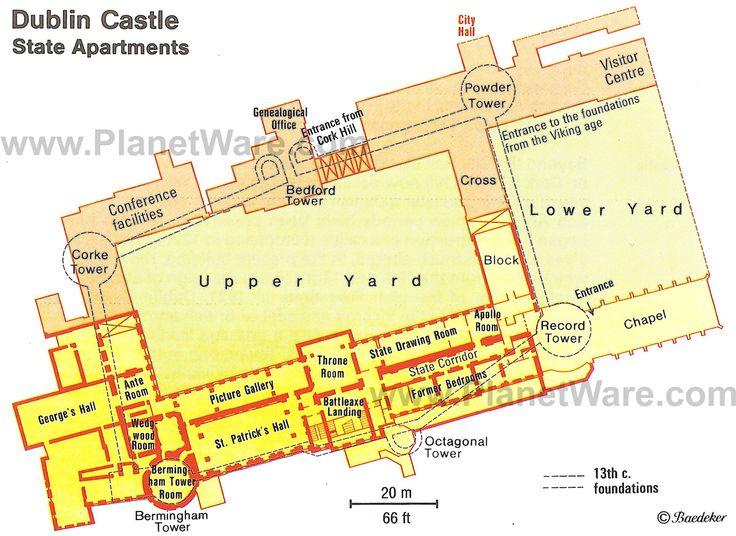 Dublin Castle Floor Plan Map Ireland Mo Chro 237