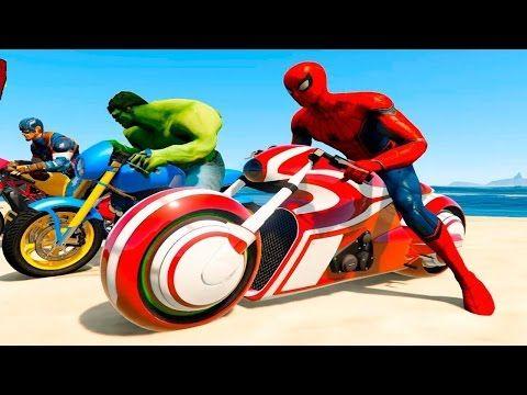 Carro Polícia Homem Aranha Desenhos Animados em portugues Video Para Crianças E Caminhão #10 - YouTube