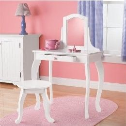 Circo Kids Vanity Table And Stool U2013 Whit
