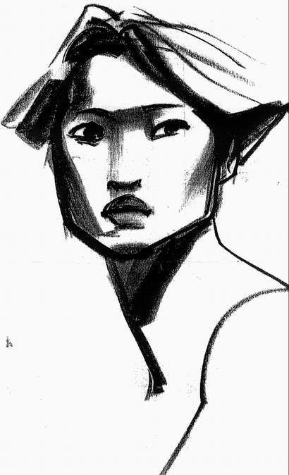 "Character design for Nakoma from Disney's ""Pocahontas"" by Glen Keane."