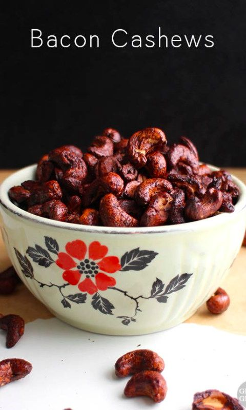 These bacon cashews only have four ingredients, and they're a total snap to make. Eat them on their own or use them to top soups, salads, or your favorite bowl!