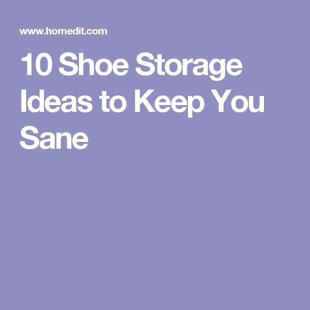 10 Shoe Storage Ideas to Keep You Sane