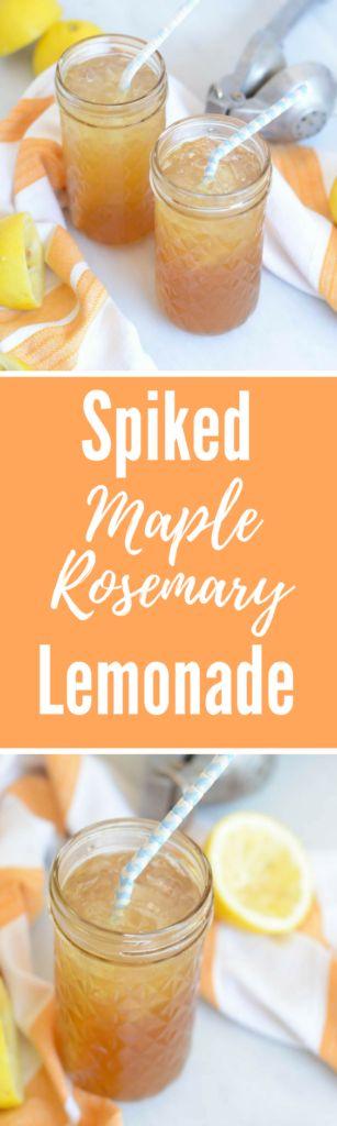 Spiked Maple Rosemary Lemonade | CaliGirlCooking.com