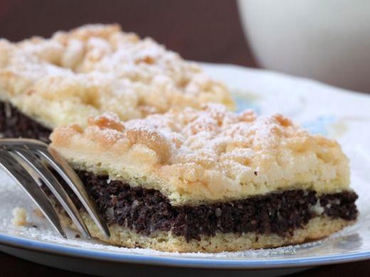 Makový koláč s ořechovou drobenkou - Recepty na každý den
