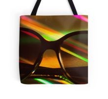 Womens sunglasses on colors silhouette photograph Tote Bag