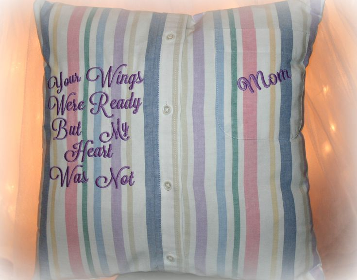 Custom Memory Pillows Made From Your Loved Ones Shirt