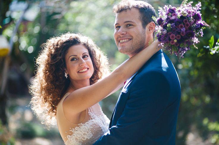 #Wedding #Love #Bride #Groom #Curls, wedding dress: @eliavatine, hair design: @carmelyahalom, photographer: @noamagger