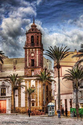 In the Plaza Catedral, Cadiz, Spain.