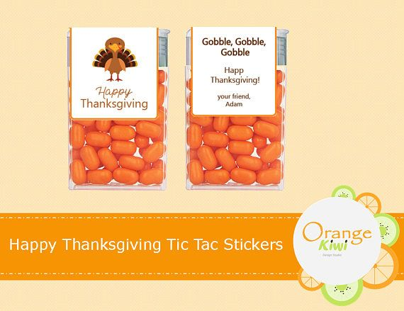 Happy Thanksgiving Tic Tac Labels Thanksgiving Tic Tac Party