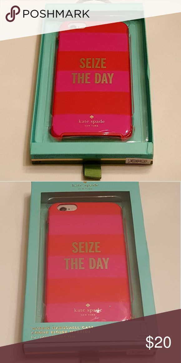 """NEW KATE SPADE SEIZE THE DAY IPHONE 6 PLUS CASE Kate Spade """"Seize The Day"""" Hybrid Hardshell case for IPhone 6 Plus. New. kate spade Accessories Phone Cases"""