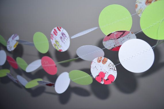 Summer Paper garland Birthday decoration party by MilestonesandPebbles, $14.98 https://www.etsy.com/shop/MilestonesandPebbles?ref=related-shop-35